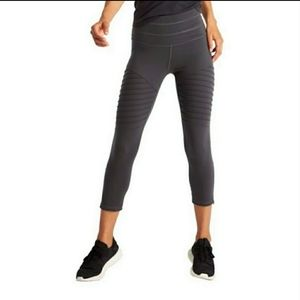 Lucy Moto Leggings Cropped Dark Grey Small